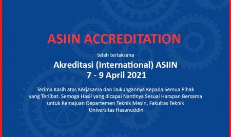 ASIIN ACCREDITATION, 7-9 April 2021