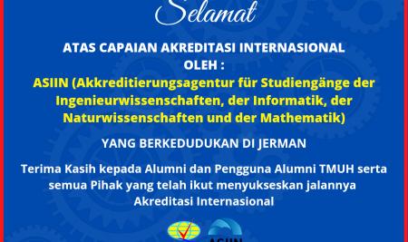 Selamat Pencapaian Akreditasi Internasional ASIIN untuk Departemen Teknik Mesin FTUH